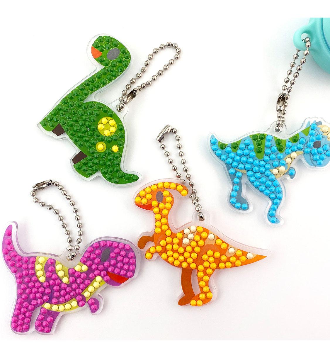 [만들기]보석십자수 아크릴 가방고리-공룡