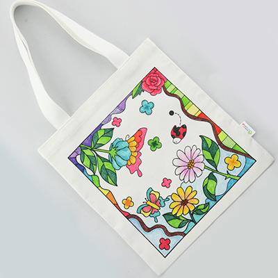[염색공예] 컬러링 에코백 봄여행 s.03