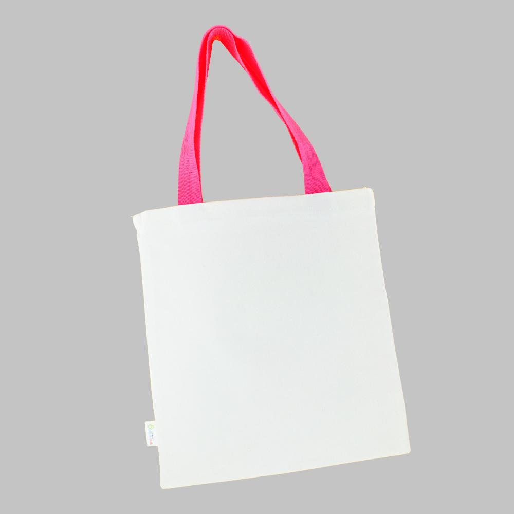 [염색공예] 컬러링 에코백 컬러끈 무지 (분홍색) s.03