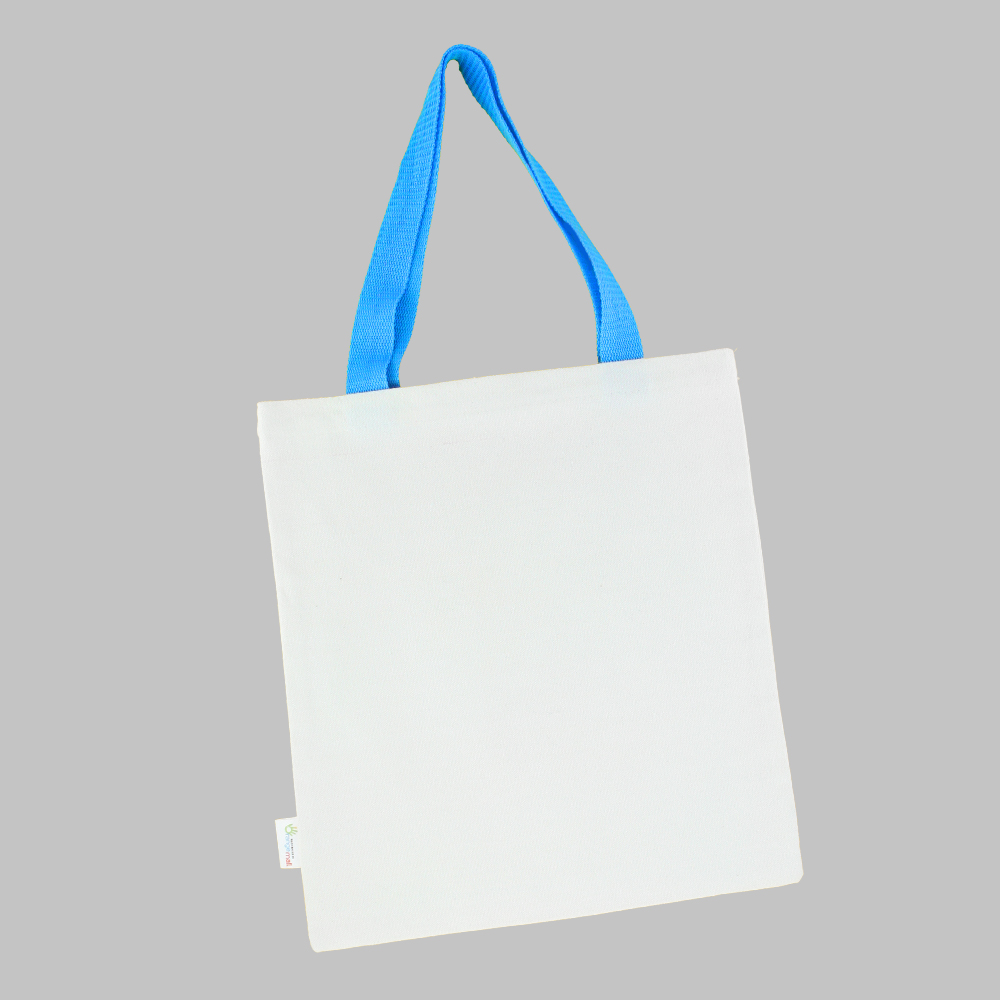 [염색공예] 컬러링 에코백 컬러끈 무지 (하늘색) s.03