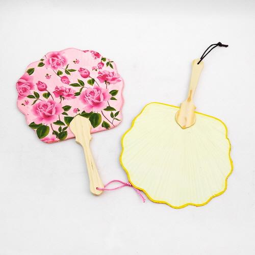 [만들기재료] 꽃한지 부채