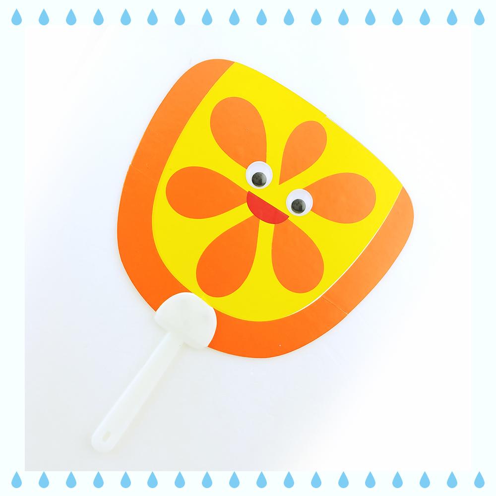 [부채만들기] 과일 부채 - 오렌지